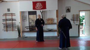 Chi ryu Aiki-jitsu edzésen